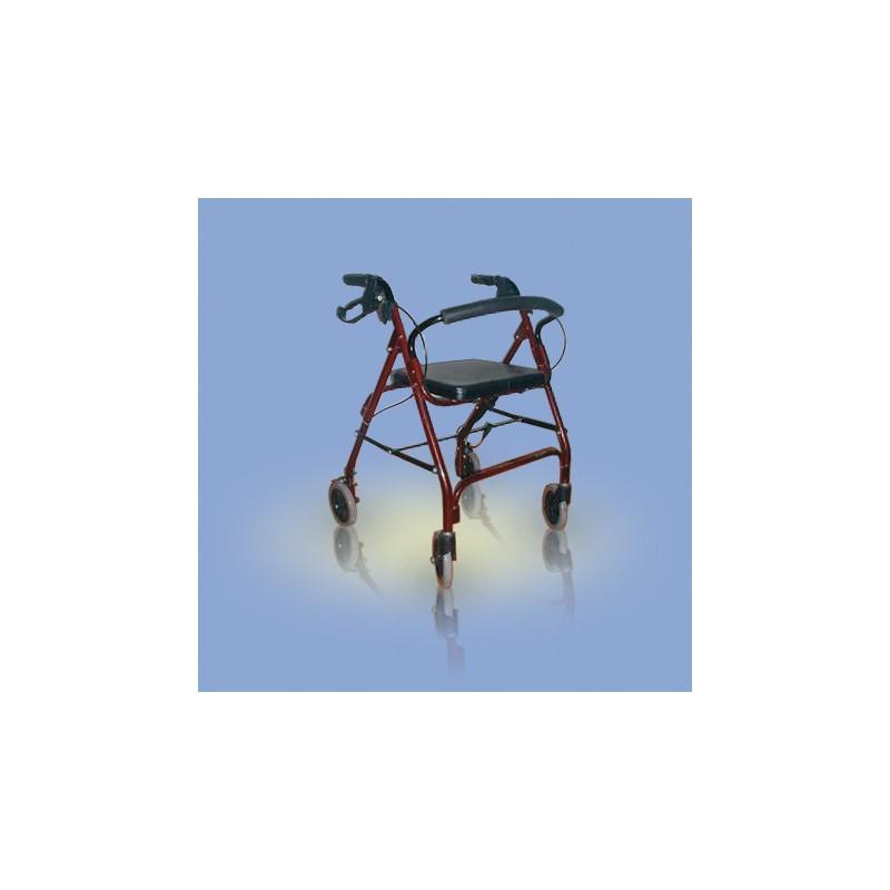 Chodzik inwalidzki aluminiowy czterokołowy