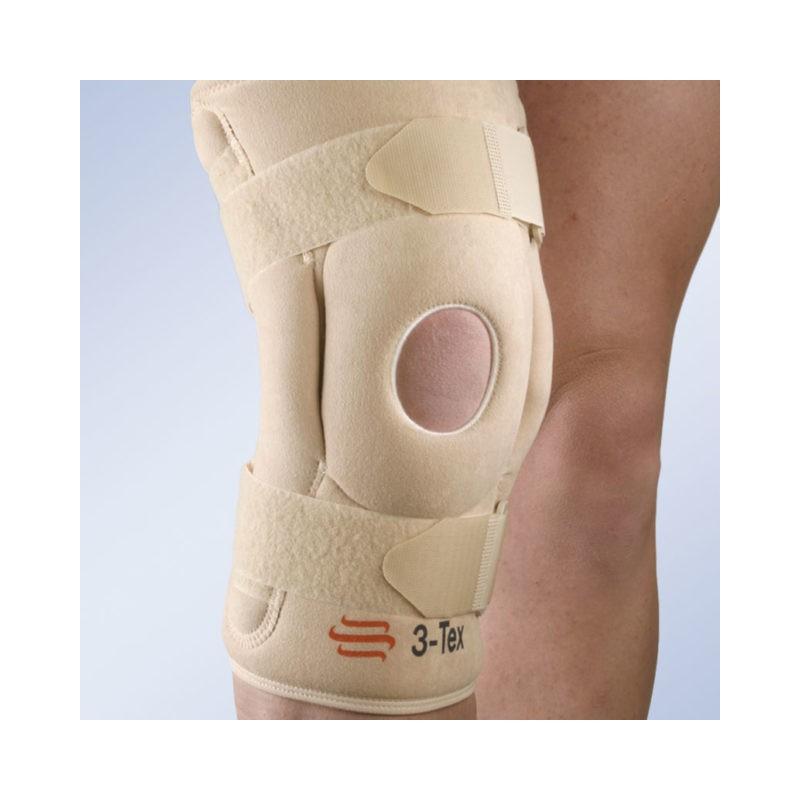 Stabilizator kolana z szynami bocznymi z regulacją kąta zgięcia