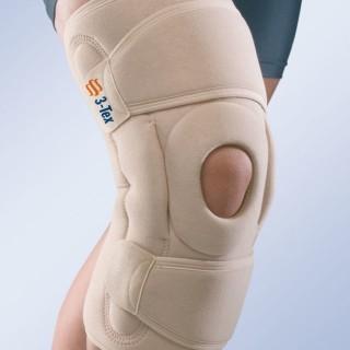 Stabilizator kolana z szynami i otwartym dołem podkolanowym z regulacją kąta zgięcia