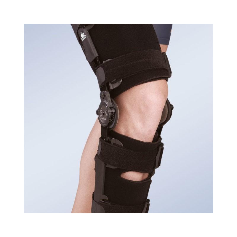 Orteza stabilizator stawu kolanowego z regulacją kąta zgięcia i wyprostu