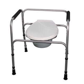 Krzesło toaletowe aluminiowe stałe AT01001