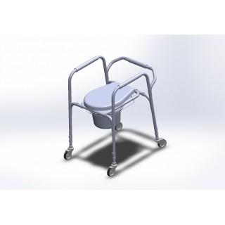 Krzesło toaletowe aluminiowe z kółkami AT01003