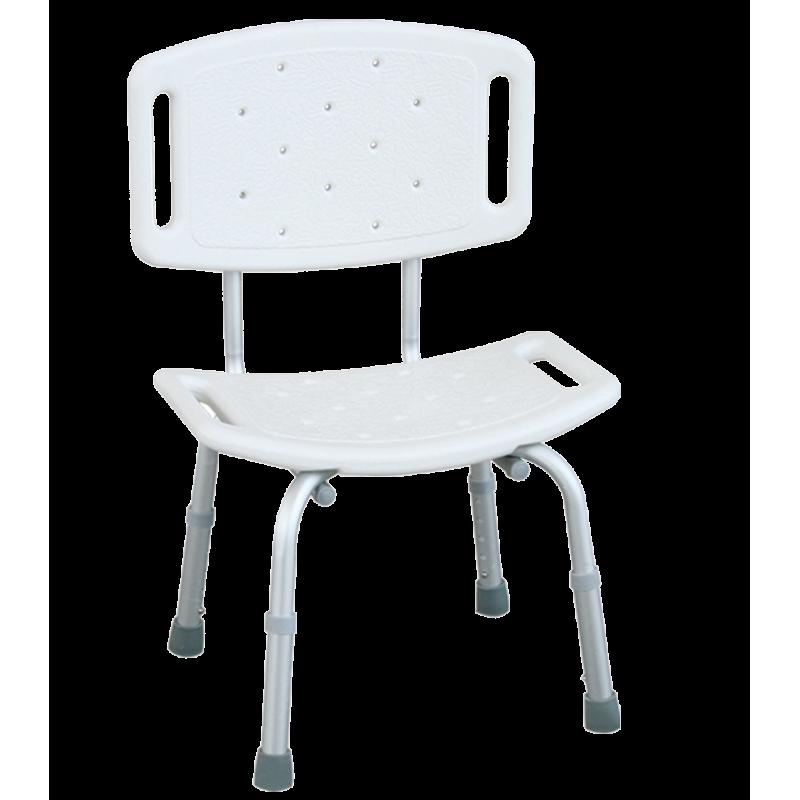 Krzesło prysznicowe z oparciem