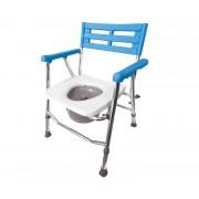 Krzesło toaletowe pod prysznic aluminiowe składane