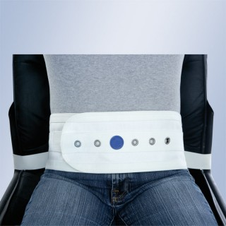 Brzuszny pas magnetyczny do krzesła lub fotela, z klamrami