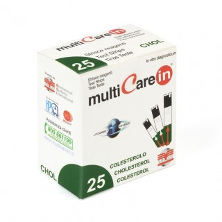 Paski testowe do pomiaru cholesterolu we krwi Multi Care In 25...