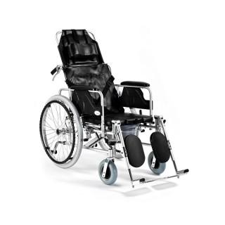Wózek inwalidzki aluminiowy stabilizujący plecy i głowę z...