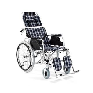Wózek inwalidzki aluminiowy stabilizujący plecy i głowę FS 954...